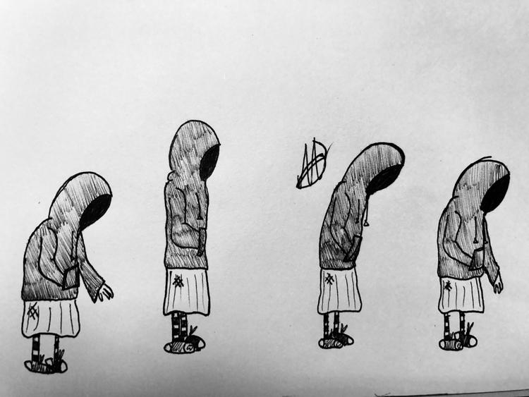 Remember Bones - art, pen, penart - pleasantcynic | ello