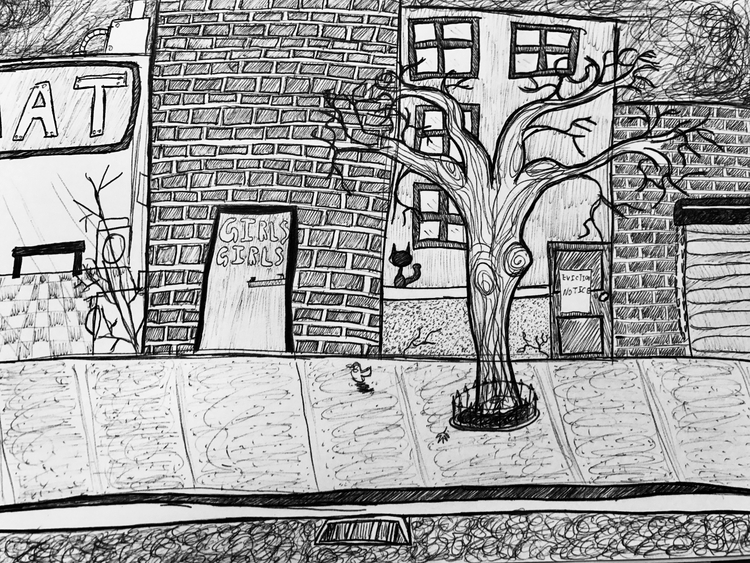 Gentrification - art, pen, penart - pleasantcynic | ello