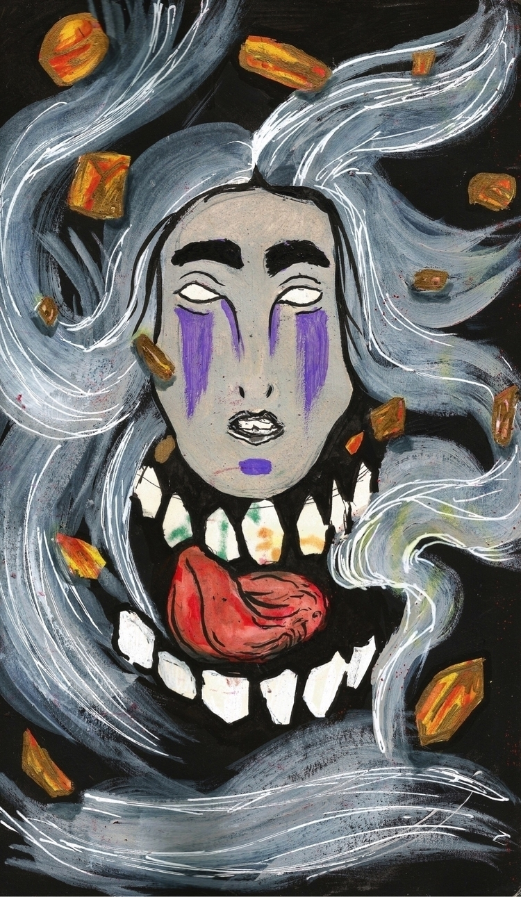 Face || - artwork, art, canvas, mixedmedia - drugquests | ello