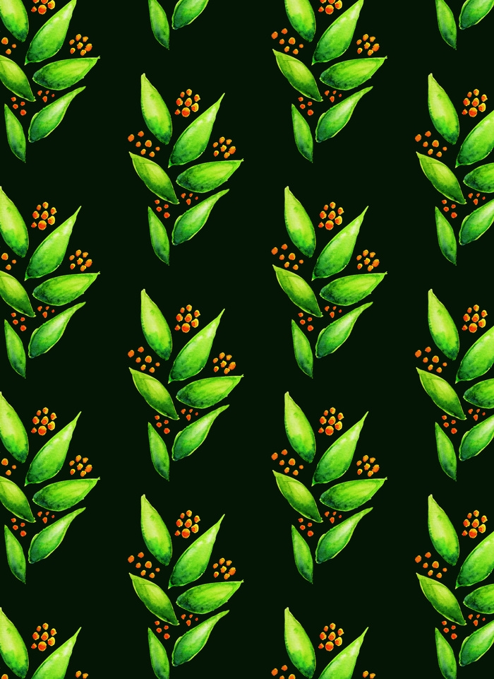 Green plant pattern - botanical - borianag | ello