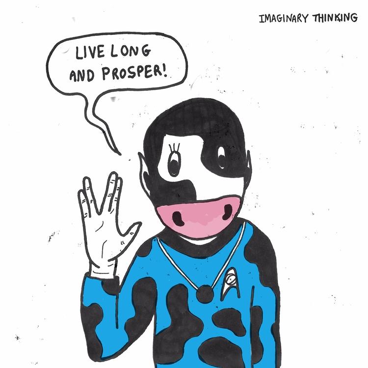 Live long prosper. Daily drawin - imaginarythinking | ello