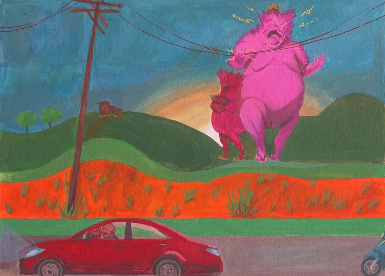 Field - field, art, painting, gouache - rseles | ello