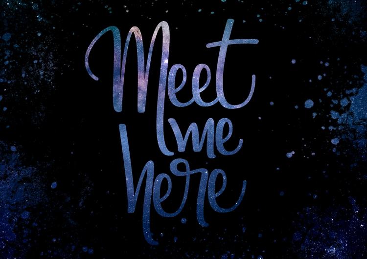 Meet - lettering, vector, letters - gabifields | ello