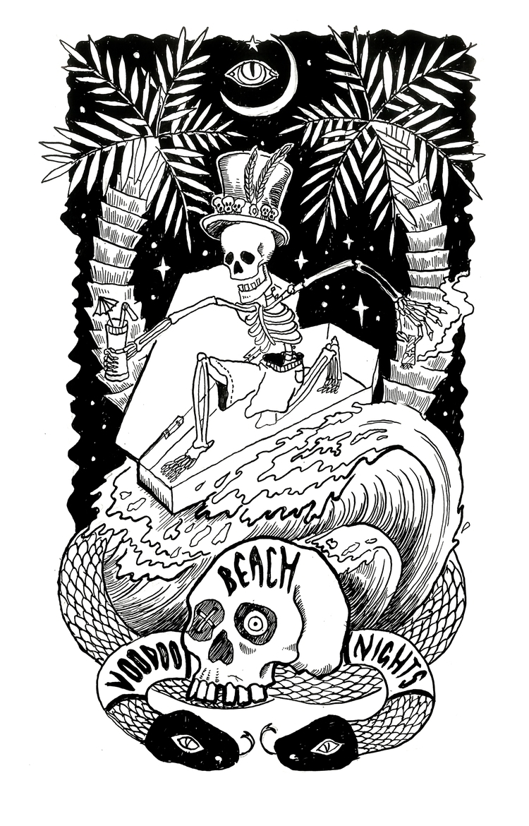 'Beach Goth - illustration, drawing - polkip | ello
