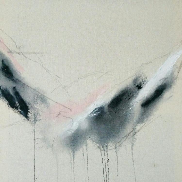 Unprimed canvas (acrylic, ink g - agomezart | ello