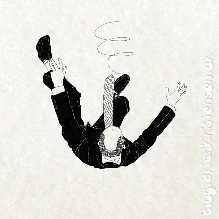 Drawing - falling, man - art2u | ello