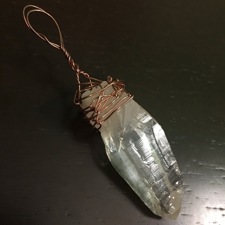 Laser Point Quartz Pendant - Bl - blackbirdbymaggiemae | ello