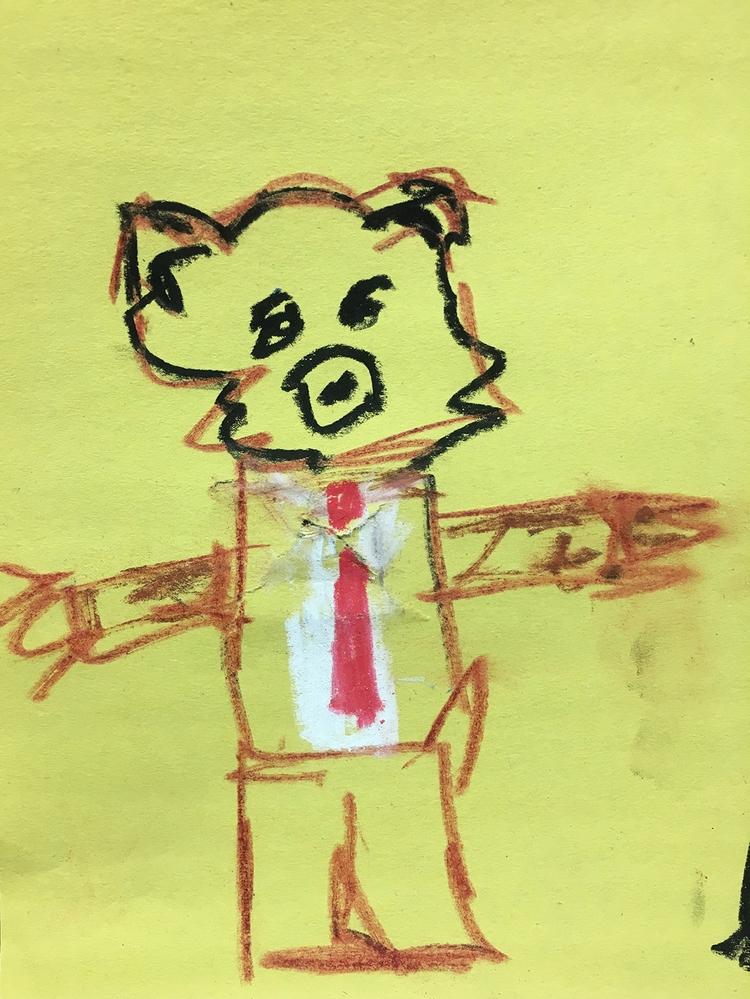Bear Tie Hug - lofi, art, drawing - jkalamarz | ello