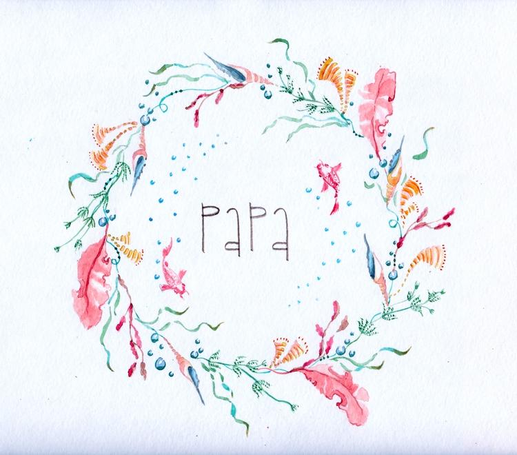 Daddy Tender watercolor wreath - flolmi   ello