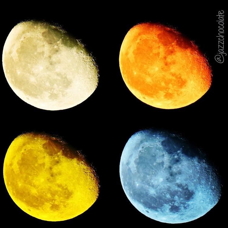 Cuatro Lunas de colores - Moon, Colours - jazzchocolate | ello