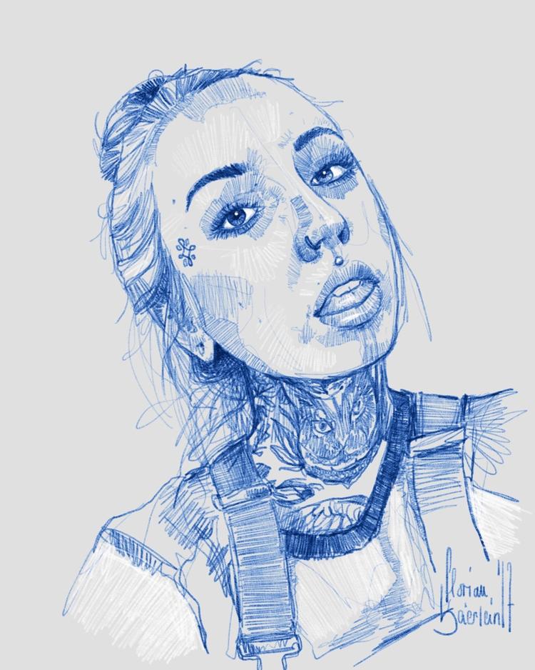 Drew tattoo apprentice - sketching - naehrstff | ello