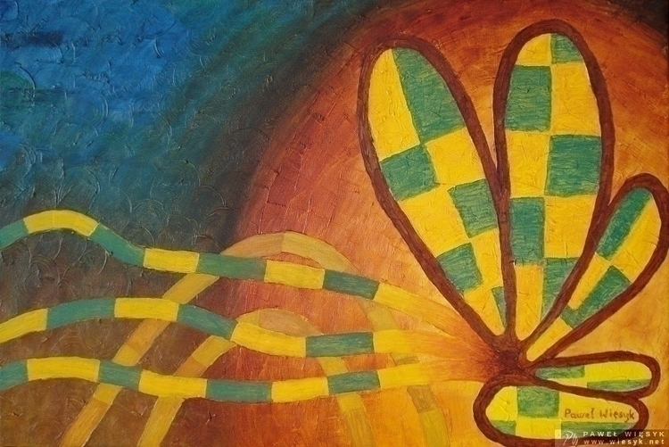 Moth Abstract painting - oil ca - pawelwiesyk | ello