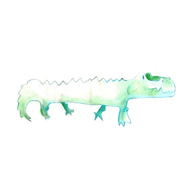 love Crocodiles, modern dinosau - kseyes_illustration | ello