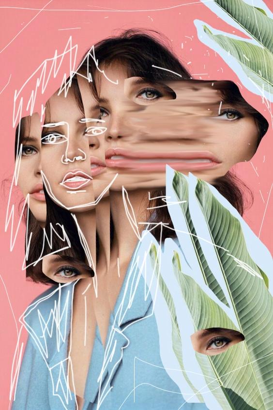 Abstract woman Collage Paul Gue - paulguerrero | ello
