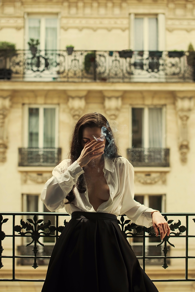 """Paris"" — Photographer/Model: I - darkbeautymag 