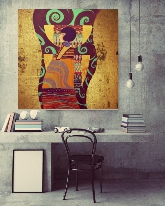 Dame Gold canvas print - society6 - trinkl | ello