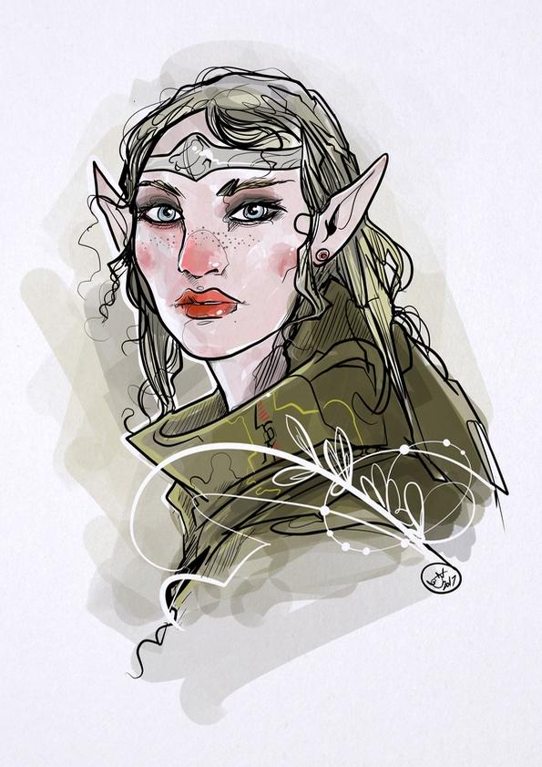 Elf - drawing, elf, fantasyart, illustration - shugmonkey | ello