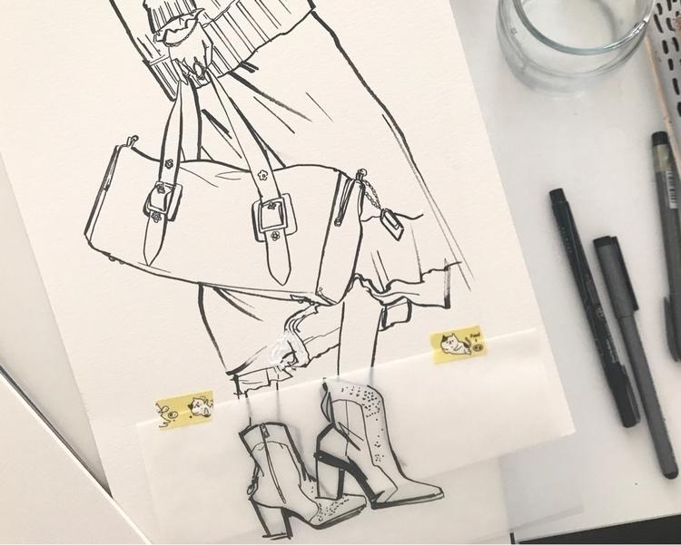 Sketching - Coach1941, NYFW - katiecadamatre | ello