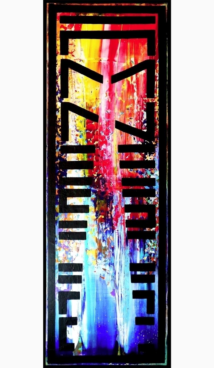 """AMNESIAC"" Cryptic painting - a - nishe_ink | ello"