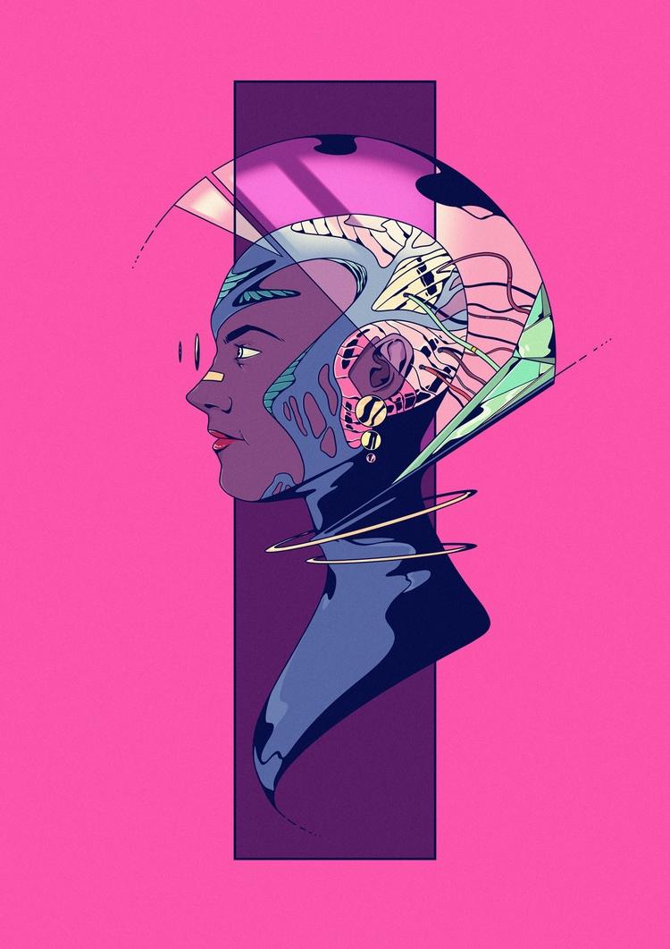 Astro - illustration, drawing, digital - jferreirastudio   ello