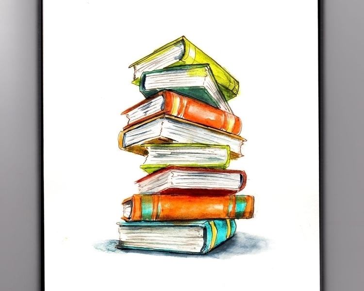 Curling Book  - doodlewashclub, WorldWatercolorGroup - doodlewash   ello