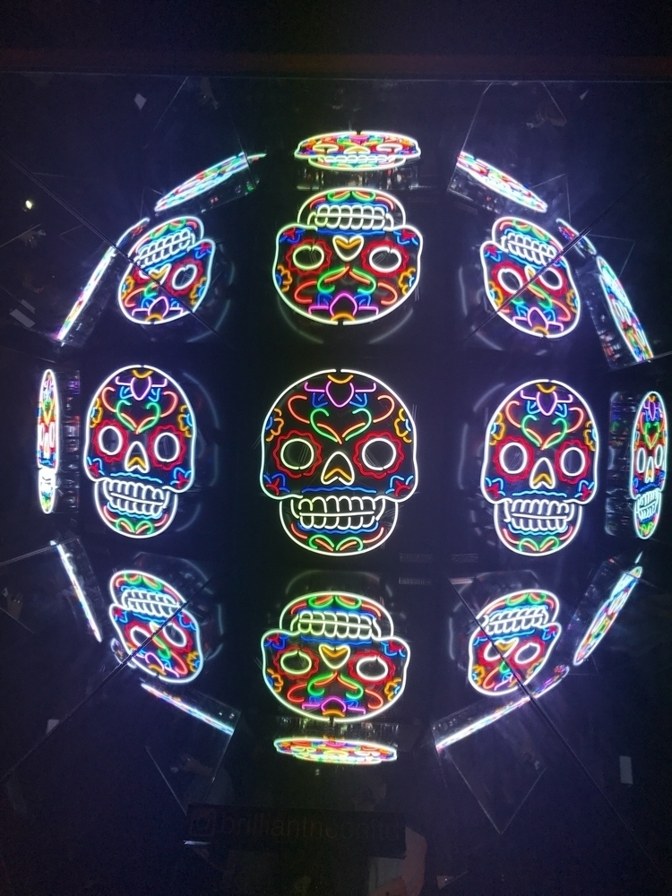 Candy Skull Neon Installation P - creativedebuts | ello