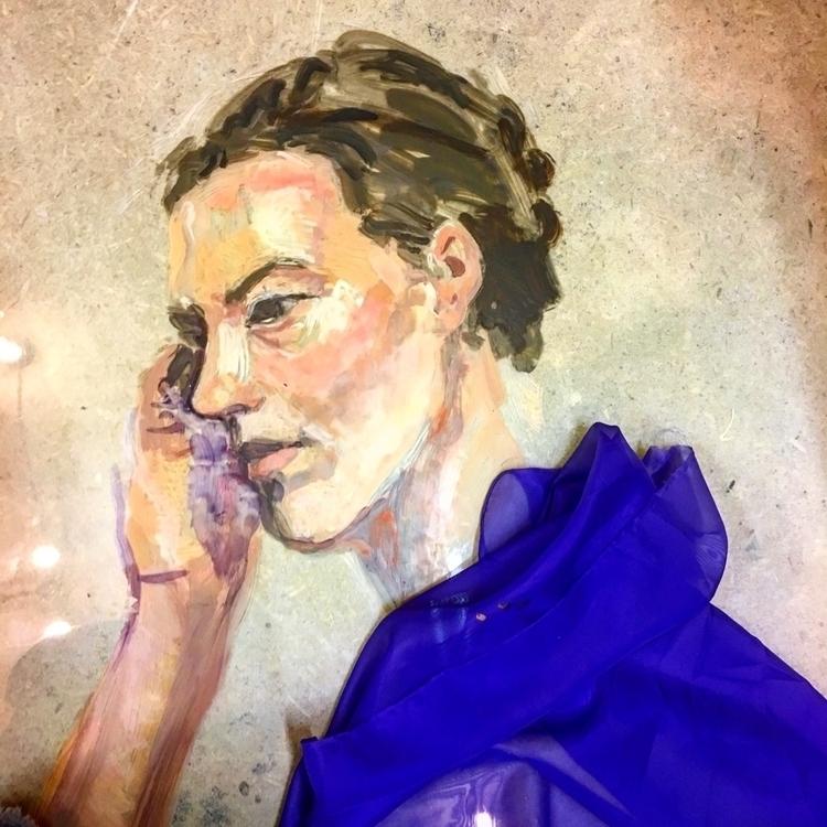 Working - fabric, translucent, portrait - yuliavirko | ello