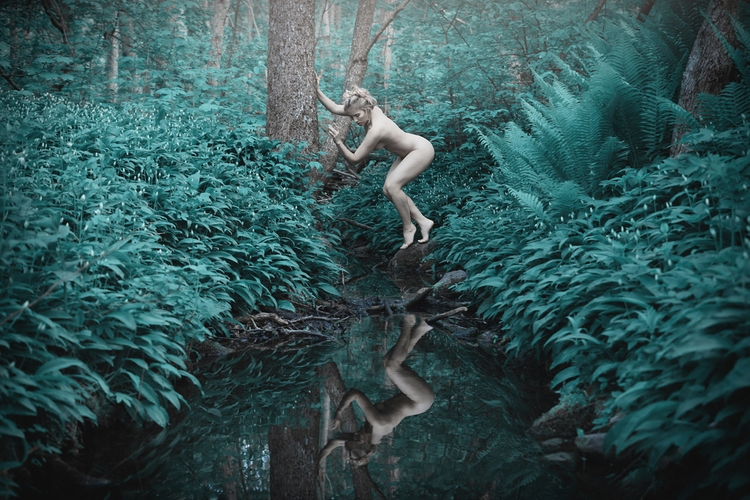 """Nymph"" — Photographer:Vivian  - darkbeautymag | ello"