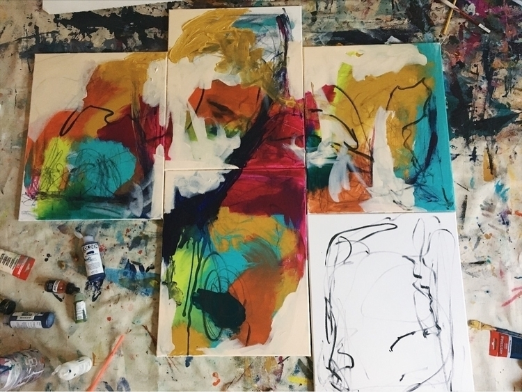 painting, artwork, abstractexpressionism - addyeb | ello
