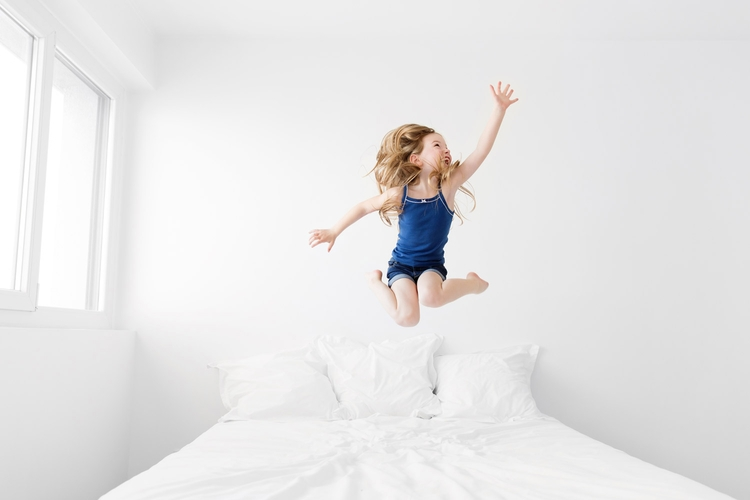Overjoyed - child, girl, kid, jump - lisatichane | ello