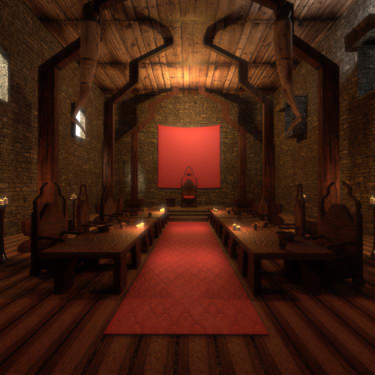 Mead hall#fantasy - 3d, 3dmodel - solutuminvictus | ello