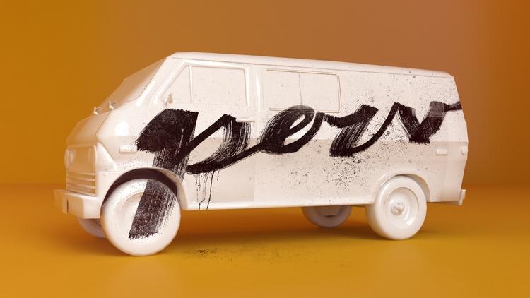Perv Van - 3D, 2D, Handmade, Typography - aaaronkaufman | ello