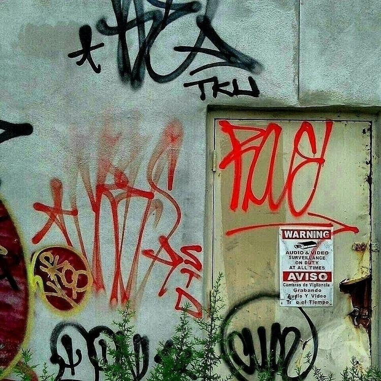 graffiti, aviso, actionpainting - anthonycandkarenm | ello