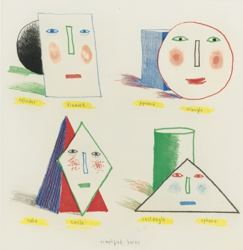 David Hockney - Simplified Face - ohgoodgoods_mag | ello