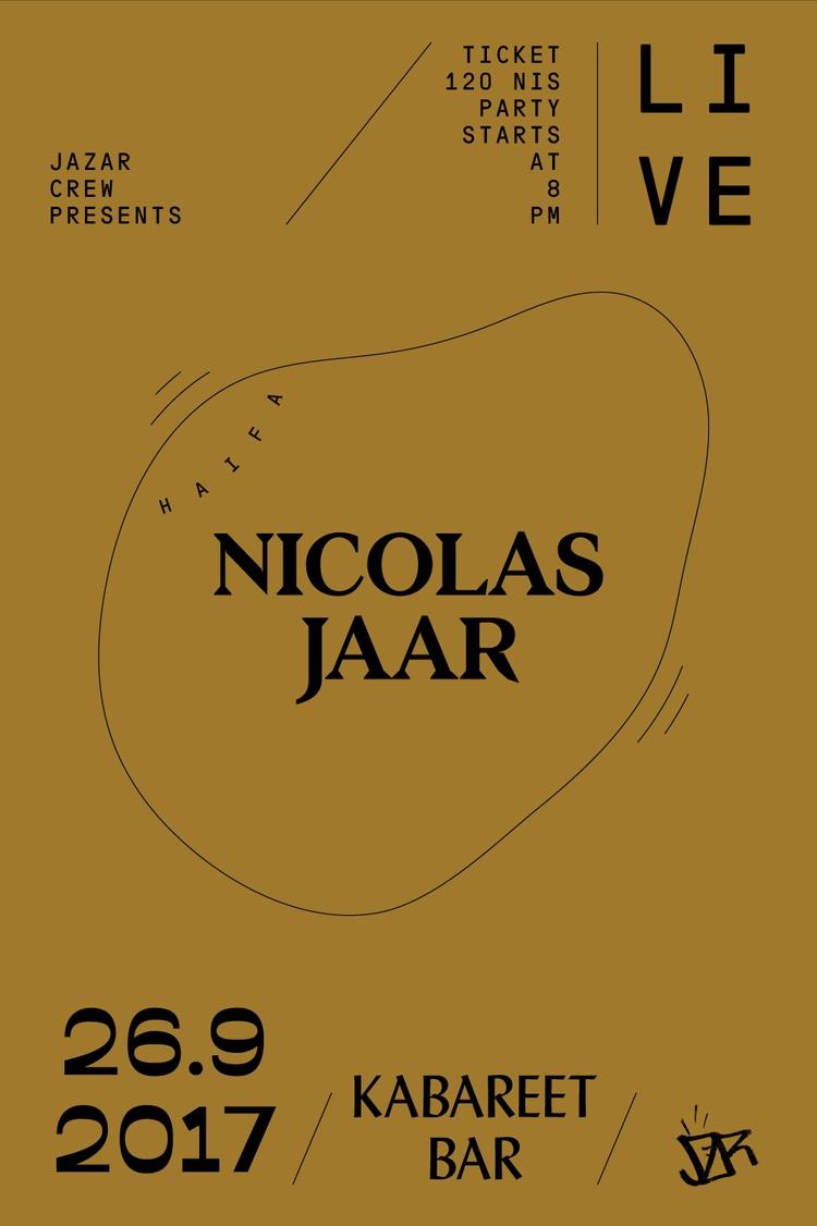 NICOLASJAAR, HAIFA, 2017, LIVE - saeed | ello
