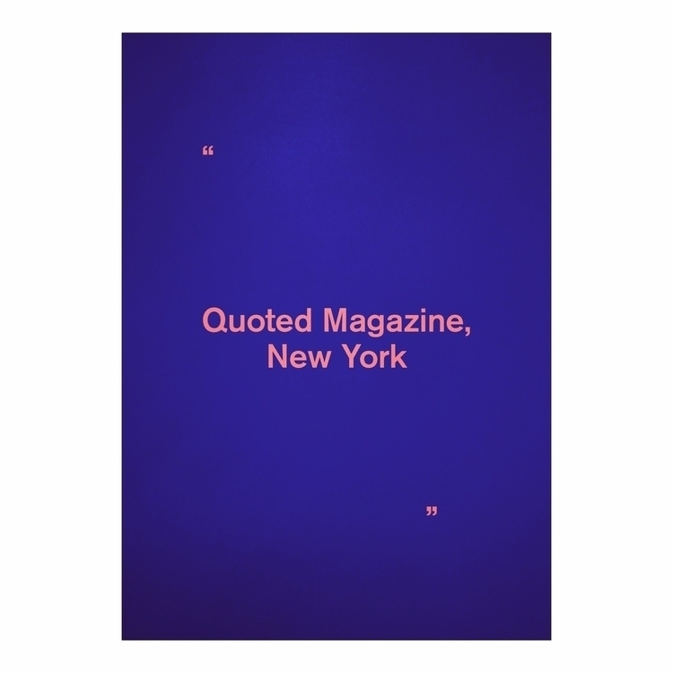 Quoted Magazine features intima - madsjakobpoulsen | ello
