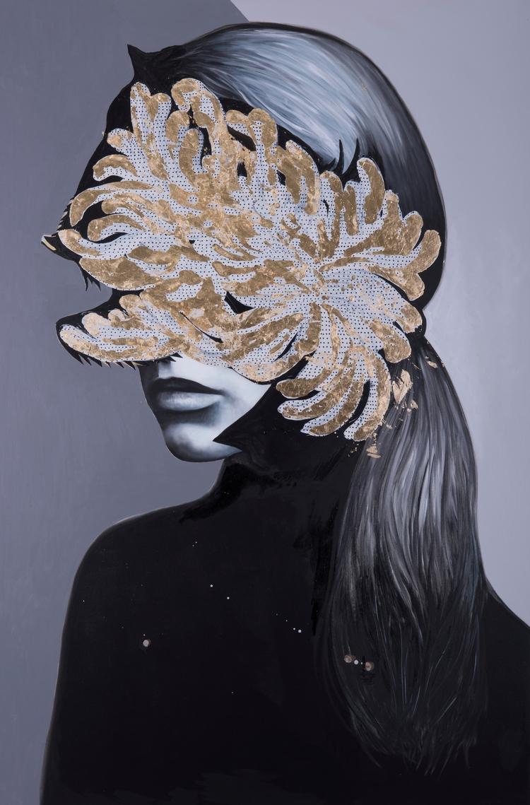 Antiportrait golden leaf // oil - fede_poletti   ello