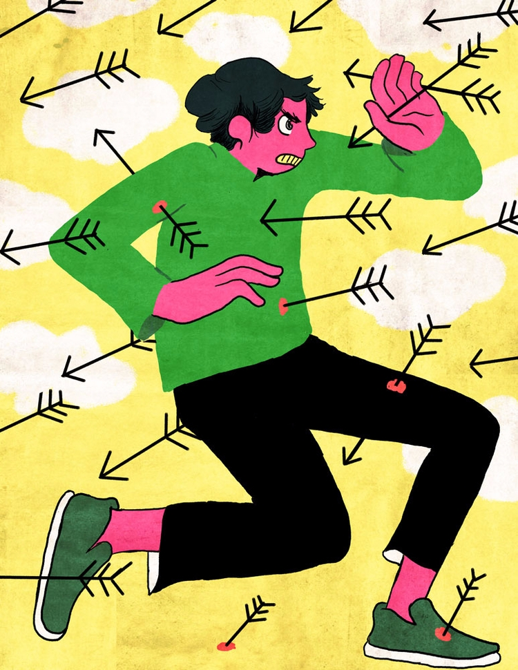 moving Foward - illustration - vryaznorange | ello