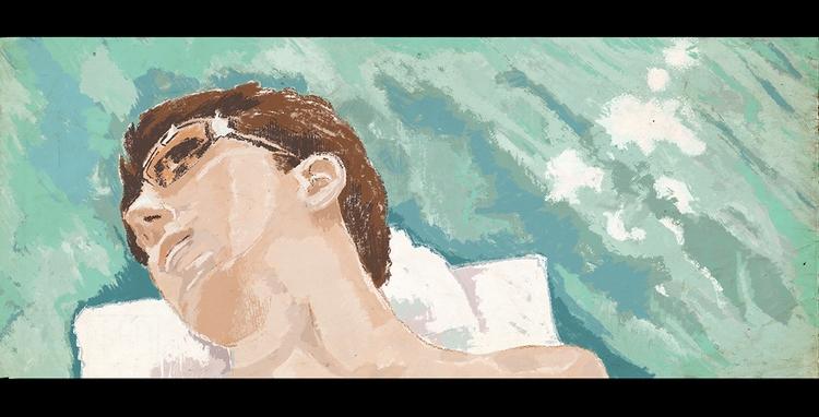 graduate - illustration, swimmingpool - zoe_vadim   ello