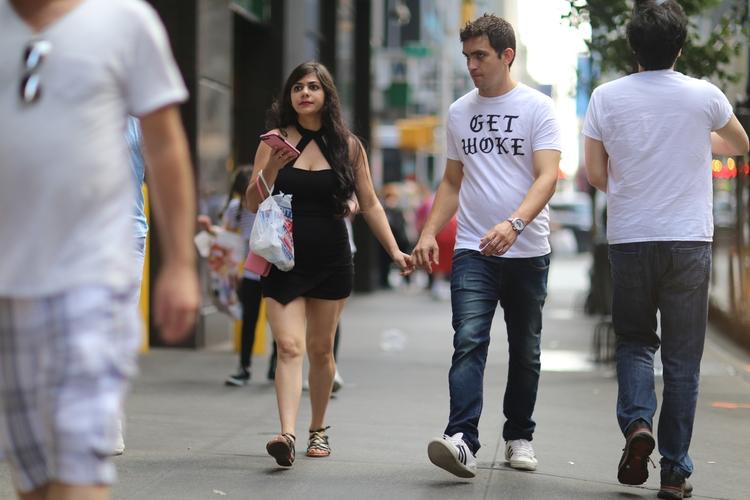 **Woke** couple walking 49th St - kevinrubin   ello