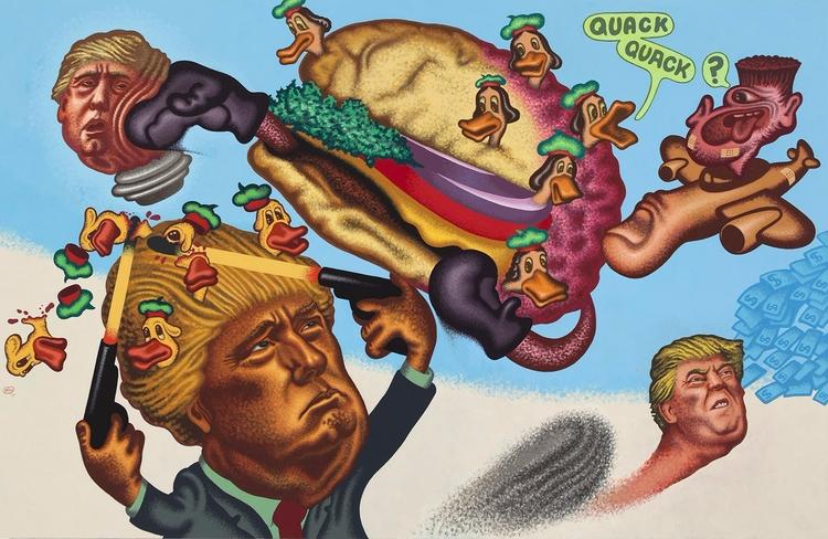 President Hamburger Peter Saul - valosalo | ello