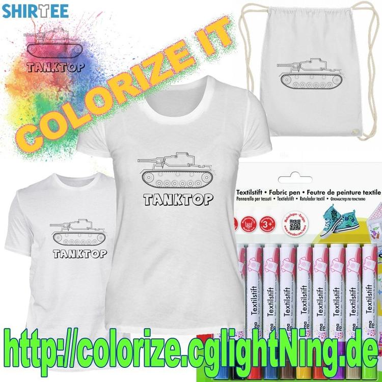 Coloring tshirt - funny gift id - cglightningart | ello