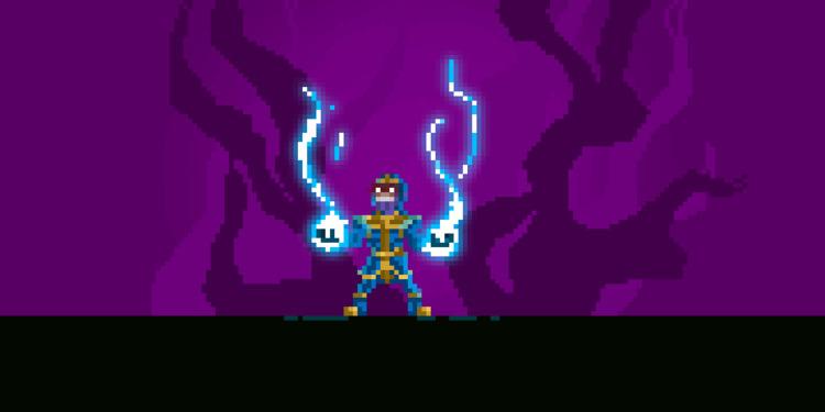 [Thanos - Put Gem - pixel, pixelart - apoonto | ello