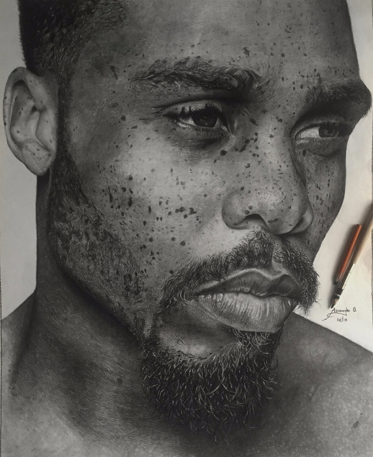 Osamudiamen Azamegbe taught art - creativedebuts | ello