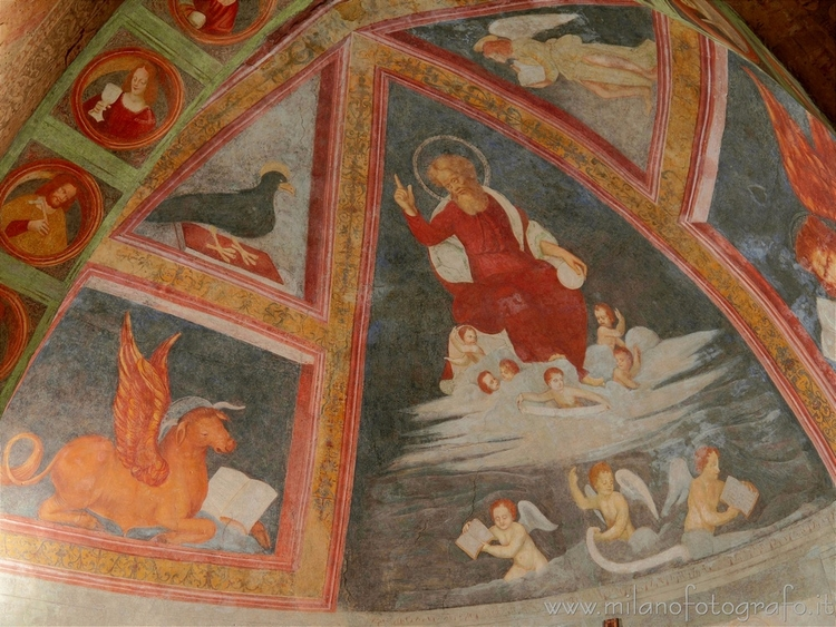 Milan (Italy): Frescoes vault l - milanofotografo   ello