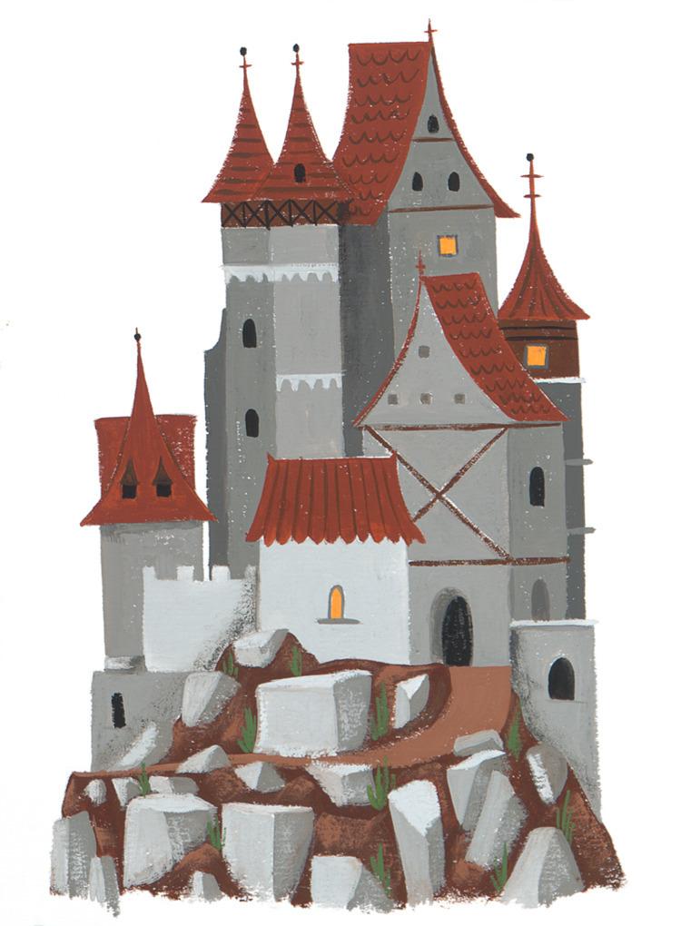 Castle Alexander Mostov - illustration - alexander_mostov | ello