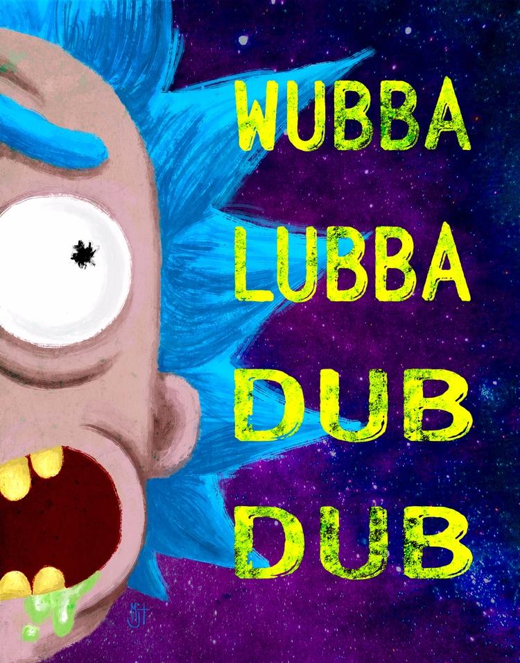 Rick Morty inspired poster. Wub - mjtillustration | ello