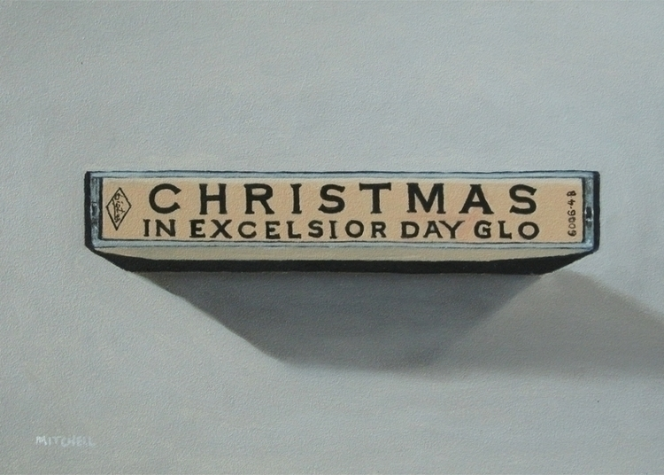Excelsior Day Glo - oil panel,  - bruce_mitchell | ello