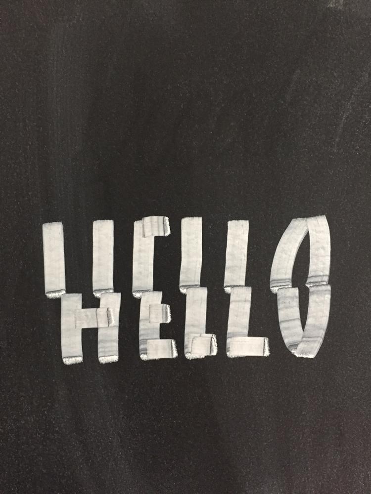 ello, chalkboard, broken, letters - sachaserano | ello