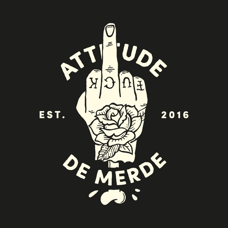 Attitude De Merde | backprint - bystigma | ello